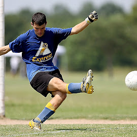 Goalie by Keith Johnston - Sports & Fitness Soccer/Association football ( field, kick, ball, goalie, action, tender, kicker, net, goal, keeper, soccer )