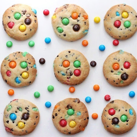 Cookies with M & M's candies