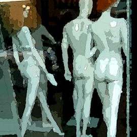 Mannequins by Edward Gold - Digital Art Things ( artistic objects, digital photography, mannequins, three mannequins, artistic, digital art )