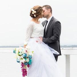 Dreaming by Mel Stratton - Wedding Bride & Groom ( kiss, married, female, male, bride, groom,  )