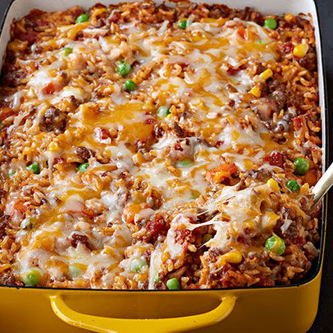 Mexican Beef & Rice Casserole