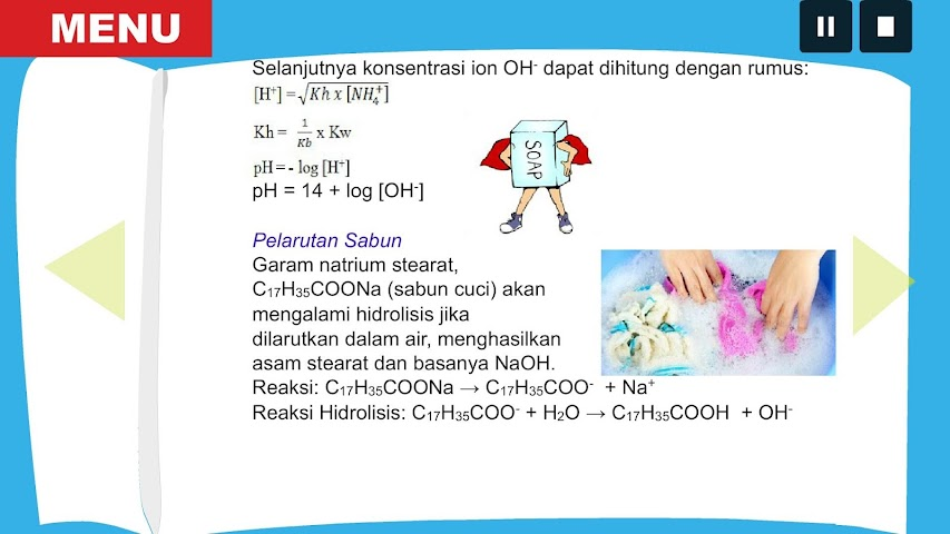 android ChemOnDro Penyangga&Hidrolisis Screenshot 4