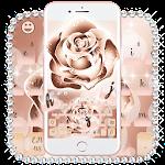 Luxury Rose Gold Keyboard Theme Icon