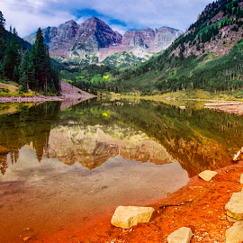 Maroon Peak,Colorado by Stanley P. - Landscapes Mountains & Hills