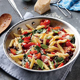 Pasta With Grape Tomatoes And Spinach Recipes