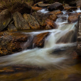 Cascading by Mark Turnau - Nature Up Close Water ( water, waterscape, time exposure, cascade, tripod, rocks )