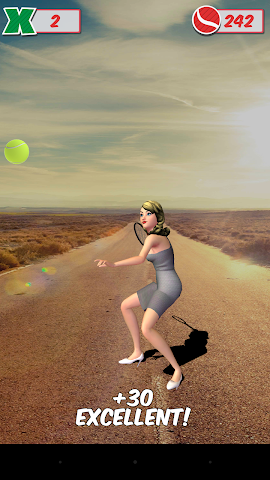 android Veemee Avatar Tap Tennis Screenshot 1