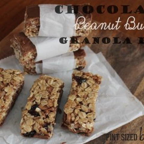 Chocolate Cinnamon Raisin Peanut Butter Granola Bars