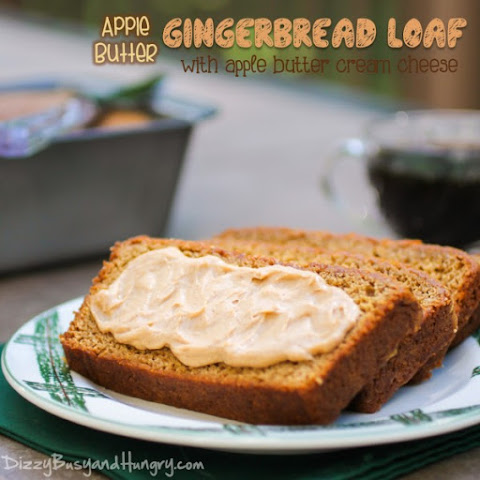 Apple Butter Gingerbread Loaf with Apple Butter Cream Cheese Spread