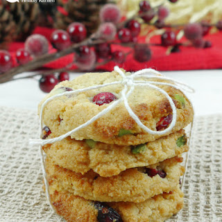 Almond Cranberry and Pistachio Cookies