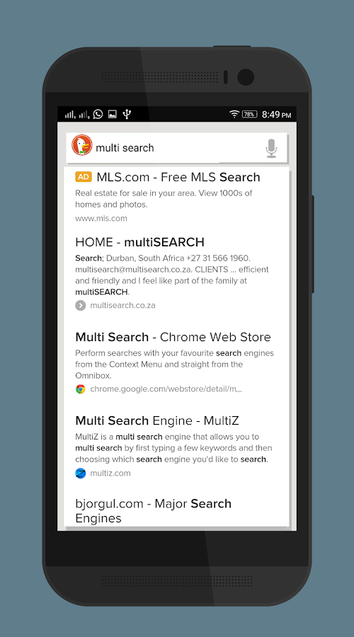 Multi Search - Alpha Screenshot