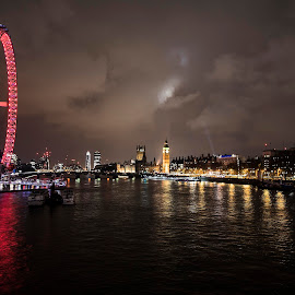 The Thames Tonight... by Dirk Seyfried - City,  Street & Park  Skylines ( london eye, skyline, thames, london, big ben )