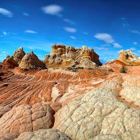 by Dale Kesel - Landscapes Deserts ( clouds, unique, desert, skylover, sandstone, remote, landscape, paria, dramatic landscape, sky, formations, arizona, southwest, red rock, dramatic )