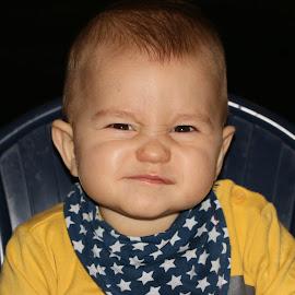 Angry babie by Radomir Perin-Rasa - Babies & Children Babies ( stars, infant, angry, baby, cute )