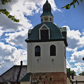 Belfry of Porvoo church by Simo Järvinen - Buildings & Architecture Places of Worship ( religion, building, christianity, church, outdoor, porvoo, finland, architecture, belfry, worship, religious )