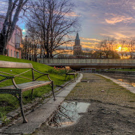 Rising sun by Bojan Bilas - City,  Street & Park  City Parks ( dawn, park, finland, turku, daybreak, nikon, city )