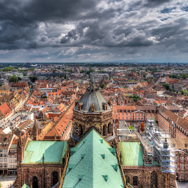 Cathedral of Strausbourg by Mark Tart - Buildings & Architecture Places of Worship ( family vacation, sky, europe, hdr, france, cathedral, alsace, high dynamic range, photography, city, strasbourg,  )