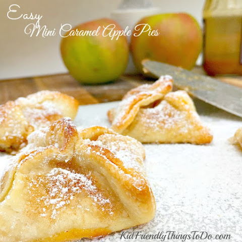 Easy Mini Caramel Apple Pies