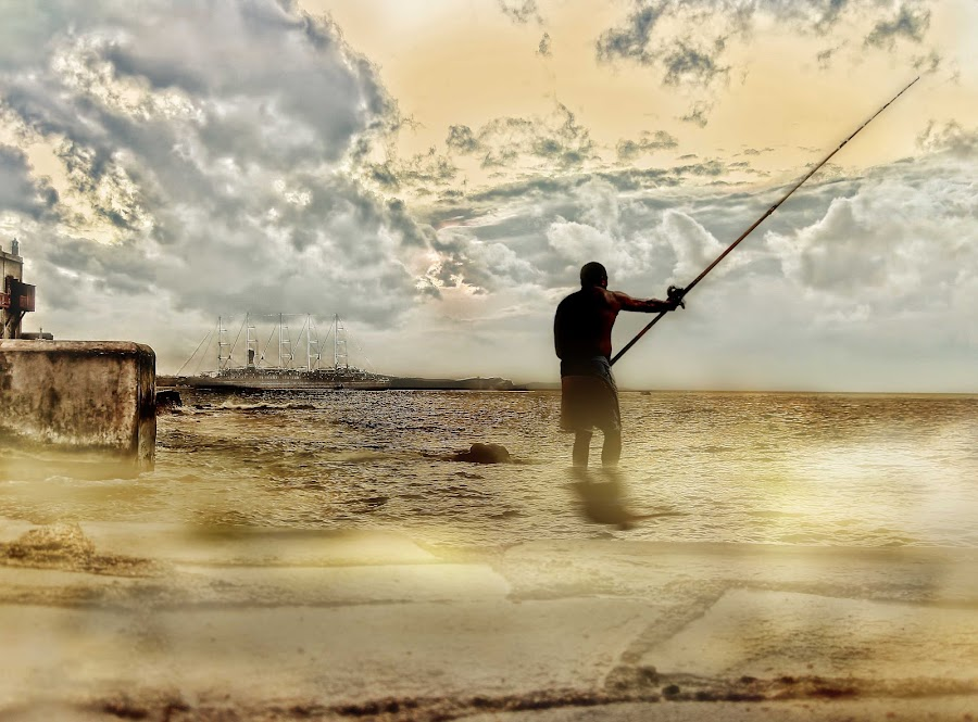 Fisherman by Adriano Sabagala - People Fine Art