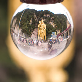 Murugan Temple at Batu Caves by Anand Lakshmi Kanthan - Buildings & Architecture Places of Worship ( god, mountain, faith, caves, malaysia, tourism, crystal, travel, inverted, photography, religion, statue, shrine, selangor, batu, asia, tall )