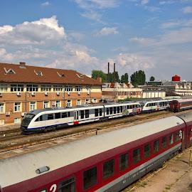 Stations by Irina Stoica - Transportation Trains ( train )