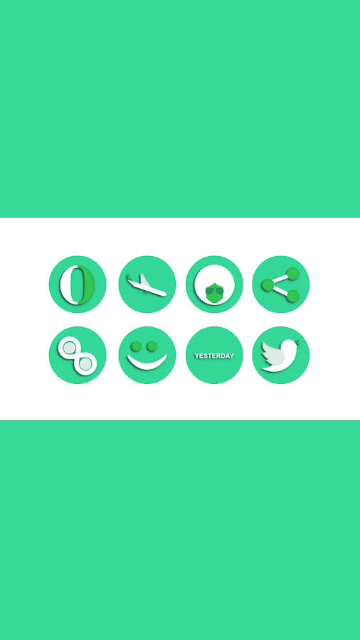 OJ Green - Round Icon pack Screenshot 2