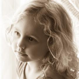Annabell by William Boyea - Babies & Children Child Portraits ( child, sepia,  )