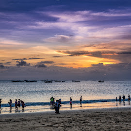 Jimbaran by Sam Song - Uncategorized All Uncategorized ( holiday, bali, sunset, indonesia, jimbaran, beach )