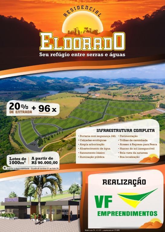 Terreno à venda, 1000 m² por R$ 149.743,18 - dos Limas - Joanópolis/SP
