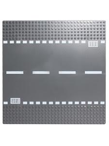 Пластина Baseplate для конструкторов, прямая дорога
