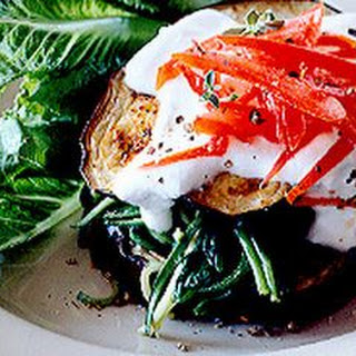 Eggplant and Spinach Stacks