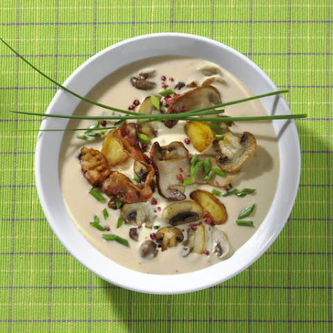 Potato, Mushroom and Bacon Soup