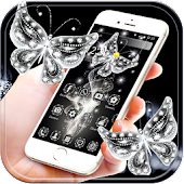 Diamond butterfly Theme APK for iPhone