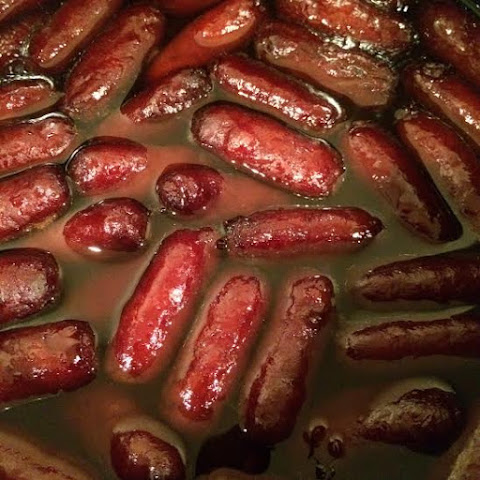 Cherry & Bourbon Glazed Cocktail Weenies