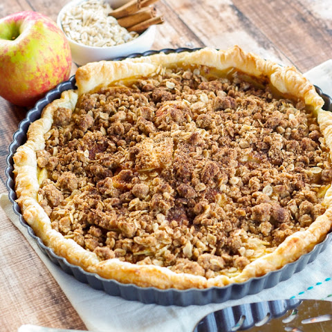 Rustic Apple Crumble Tart