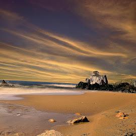 Masua beach by Franco Salis - Landscapes Sunsets & Sunrises