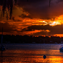 Red Water by Keith Wood - Landscapes Waterscapes ( water, kewphoto, red, sunset, keith wood )