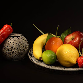 by Nadya Slavova - Food & Drink Fruits & Vegetables ( banana, oringe, fruit, apple )