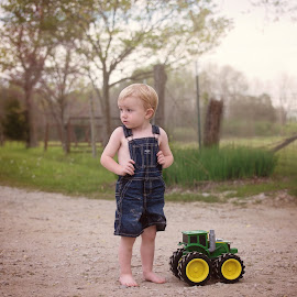 Farmer by Jamye Gay - Babies & Children Toddlers ( farm, countryside, farmer, john deere, tractor )