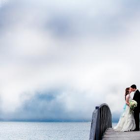 by Drew Noel - Wedding Bride & Groom