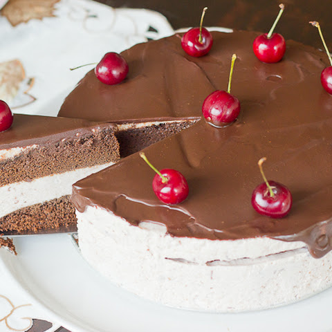 Cherry Mousse Chocolate Cake