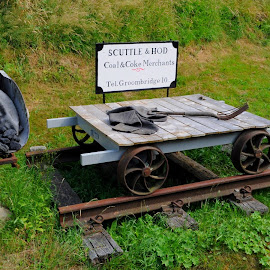 Scuttle & Hod by DJ Cockburn - Transportation Other ( spa valley railway, england, steel, britain, railroad, wagon, display, historical, heritage, history, transport, tracks, cart, transportation, bucket, kent, rails, uk, coal, railway, exhibit, scuttle, train )