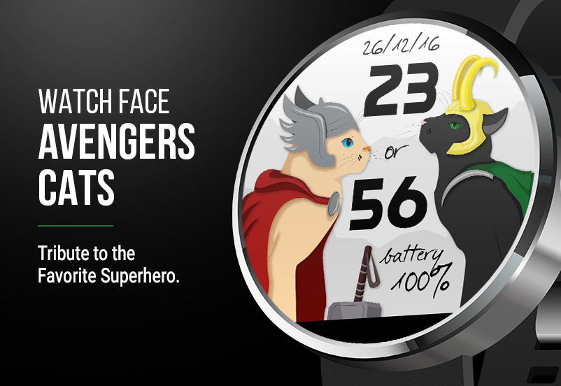 Watch Face: Avengers Cats Screenshot 4
