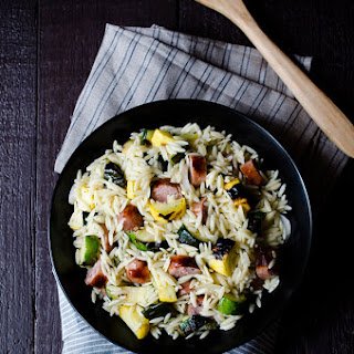 Grilled Italian Sausage and Vegetable Orzo Salad