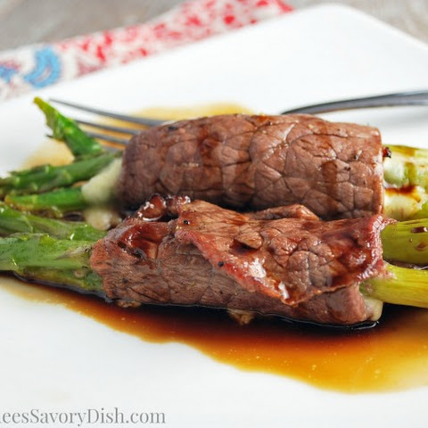 Balsamic Beef Asparagus Roll-ups