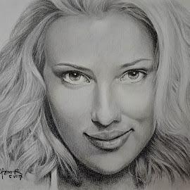 Scarlett Johanssen by Alfonso Rahardja - Drawing All Drawing