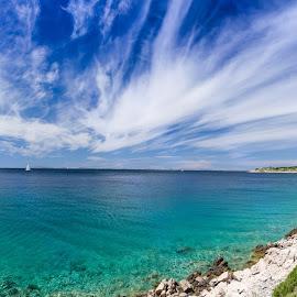 Sky by Branko Balaško - Nature Up Close Water ( sky, road, clouds, water, sea,  )