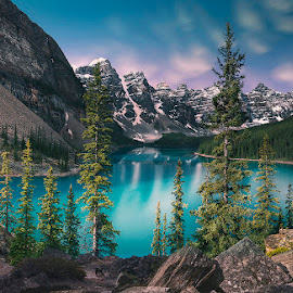 One Fine Day by Cris Magsino - Landscapes Mountains & Hills ( mountains, canada, lake, rockies, travel, banff,  )