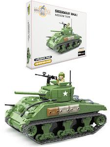 """Конструктор серии """"Brick Battle"""", средний танк Sherman M4A1"""