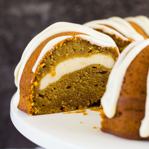 Cheesecake Swirl Pumpkin Bundt Cake